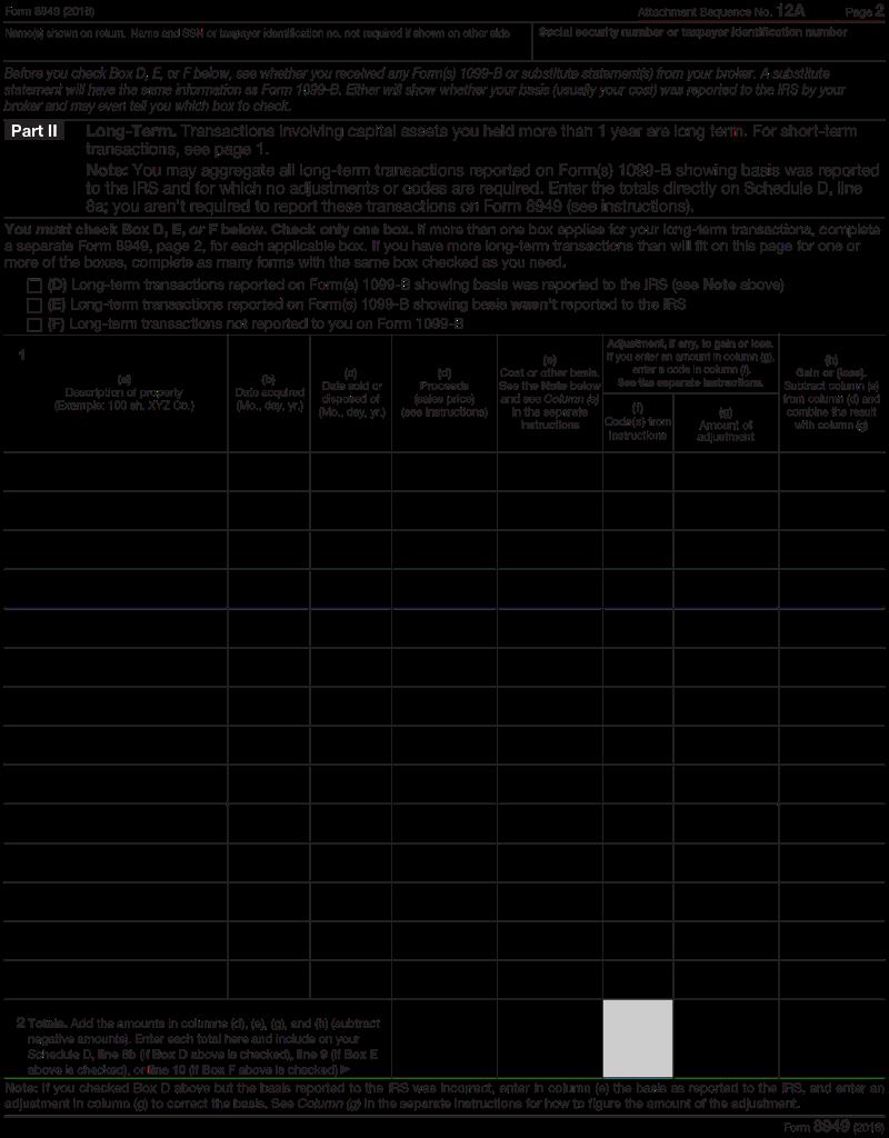 2016 Form 8949 Seatledavidjoel