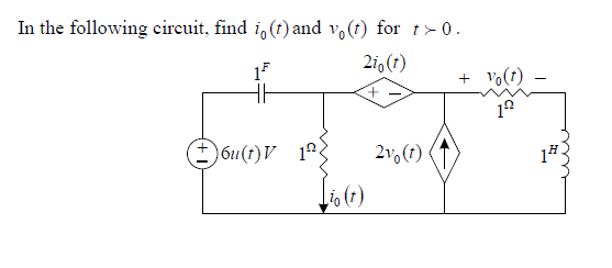 In the following circuit, find i3(t) and v0(t) for