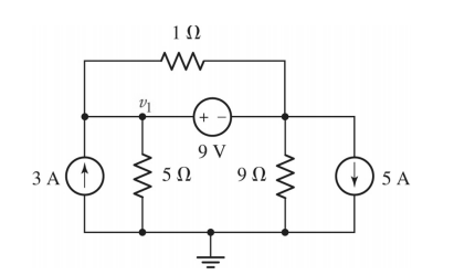 For the following circuits, solve using both mesh