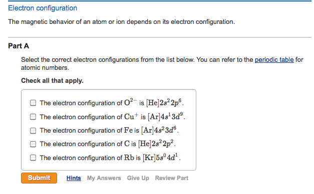 The magnetic behavior of an atom or ion depends on chegg the magnetic behavior of an atom or ion depends on urtaz Gallery