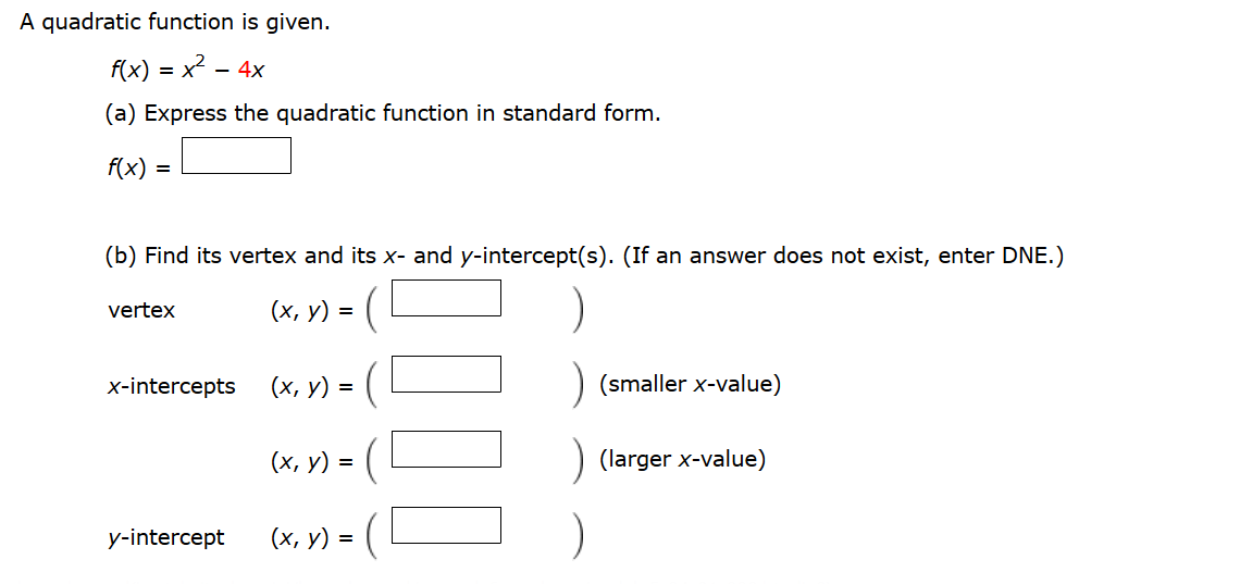 A Quadratic Function Is Given. Express The Quadrat... | Chegg.com