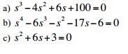 Determine whether the systems with the following c