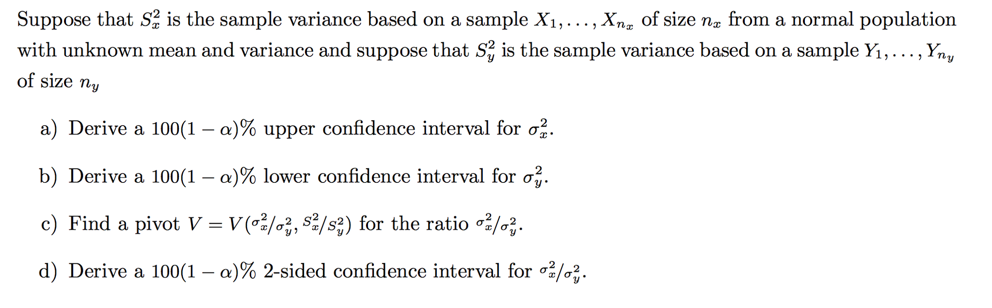 Suppose That S Is The Sample Variance Based On A S