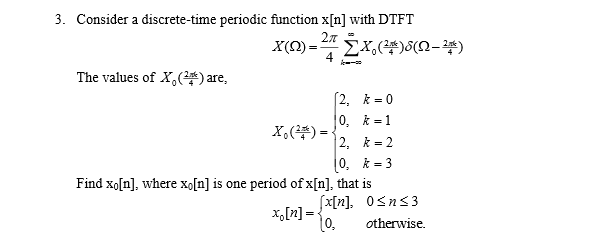 Consider a discrete-time periodic function x[n] wi
