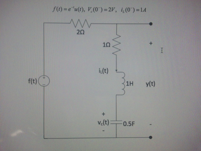 Consider the given circuit with : Obtain an e