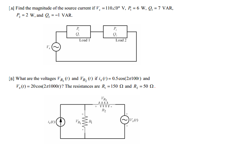 Find the magnitude of the source current if VM = 1