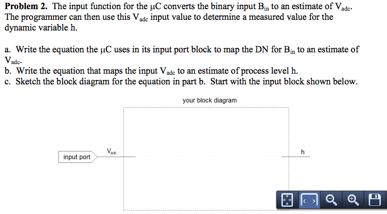 The input function for the mu C converts the binar