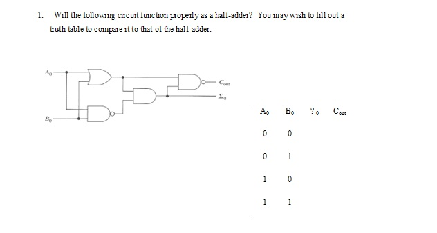 Will the following circuit function properly as a