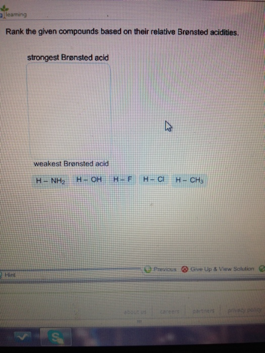 solved  alleaming rank the given compounds based on their