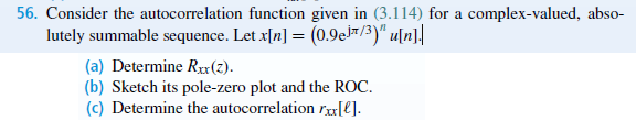 Consider the autocorrelation function given in (3.