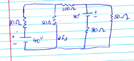 In the below circuit, find I2 USING SUPERPOSITION.