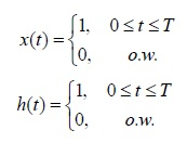 Calculate the following two signals convolution in