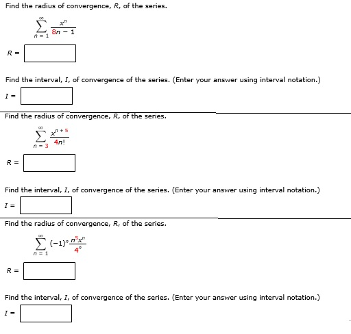 solved find the radius of convergence r of the series