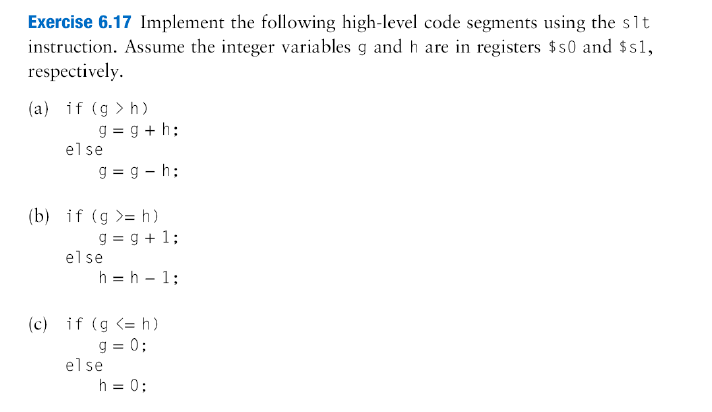 Exercise 6.17 Implement the following high-level c
