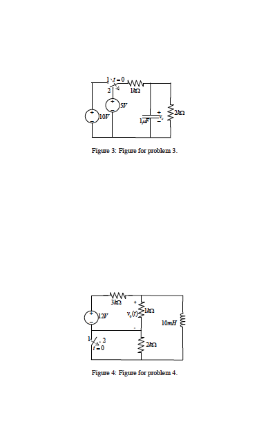 The circuit in Figure 1 his reached its steady sta