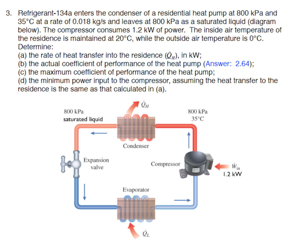 solved: 3. refrigerant-134a enters the condenser of a resi