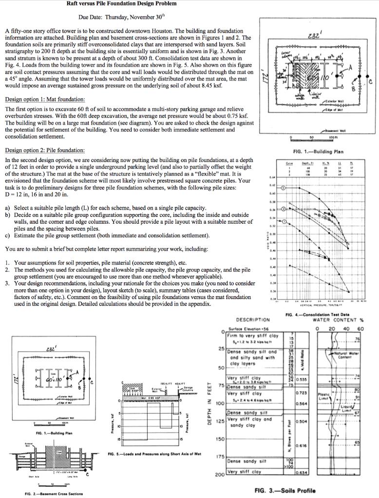 basement foundation design. Question: Raft Versus Pile Foundation Design Problem Due Date: Thursday, November 30h A Fifty-one Story Off. Basement C