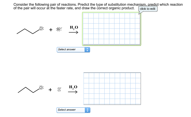 nucleophilic substitution reaction essay Mechanisms of nucleophilic substitution the s n 2 mechanism in this mechanism,a nucleophile reacts directly with an organic substrate such as an alkyl halide in a concerted (one step) reaction.