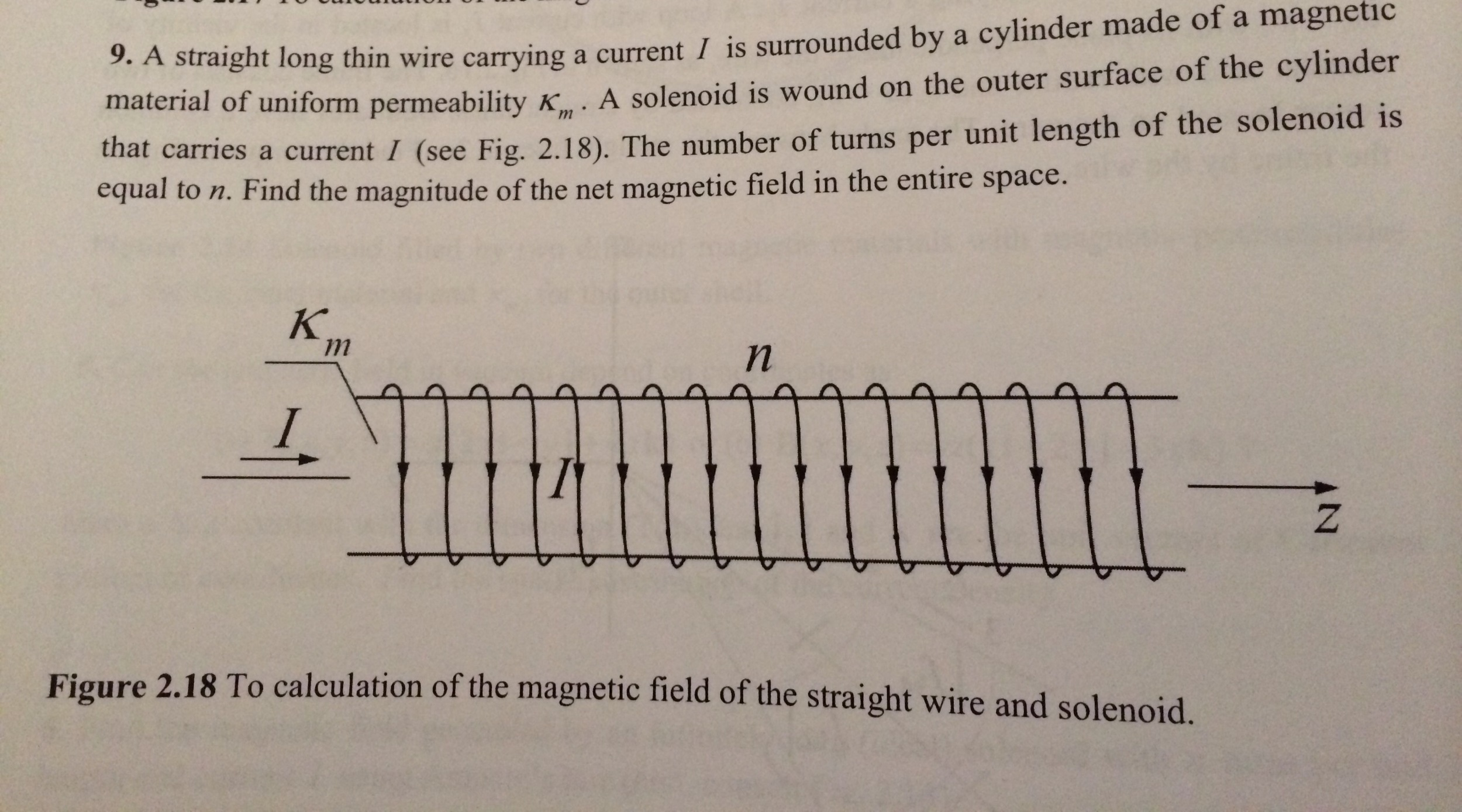 A straight long thin wire carrying a current i is chegg question a straight long thin wire carrying a current i is surrounded by a cylinder made of a magnetic mat keyboard keysfo Images