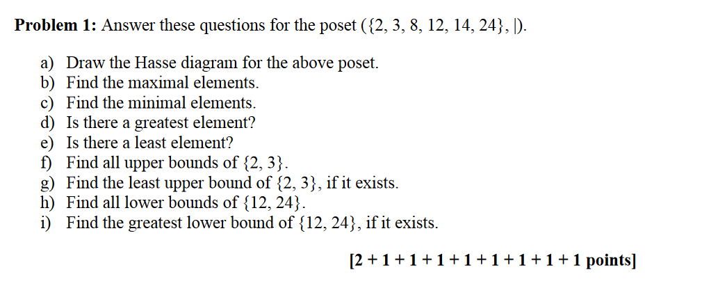 Solved problem 1 answer these questions for the poset 2 problem 1 answer these questions for the poset 2 3 8 12 ccuart Choice Image