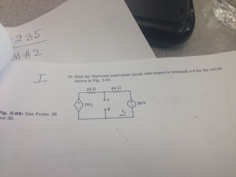 find the Thevenin equivalent circuit with respect
