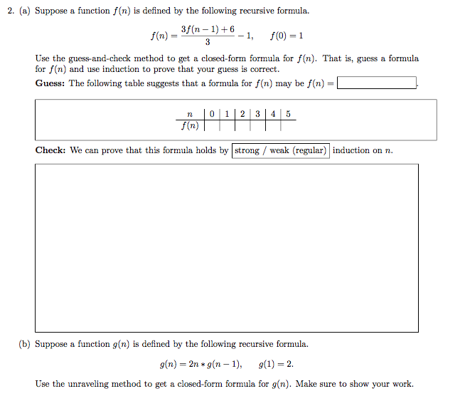 F(n) = (n-1) + 6 Use The Guess-and-check Method To... | Chegg.com
