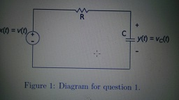 Consider the RC circuit shown below. Analyze the