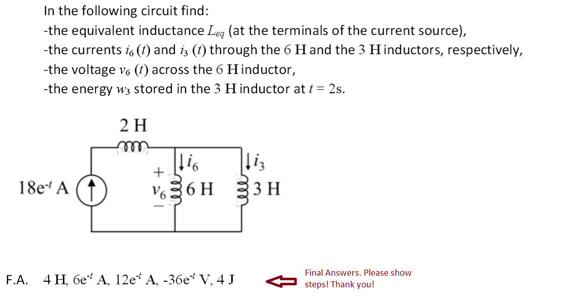 In the following circuit find: -the equivalent in
