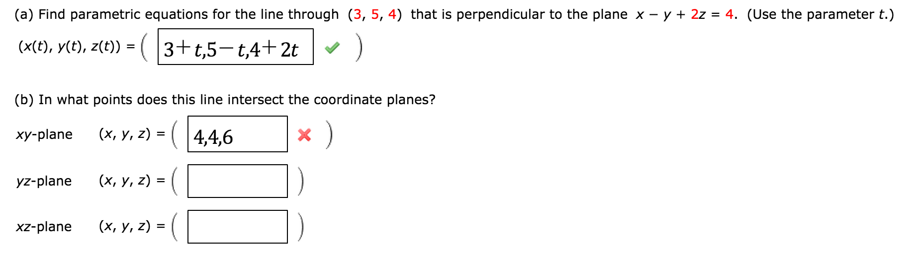 perpendicular planes. image for (a) find parametric equations the line through (3, 5 perpendicular planes