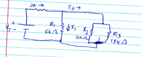 In the below circuit, find a) I2 using the CDR &nb