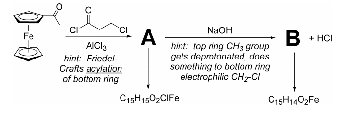friedel crafts acylation of ferrocene acetylferrocene Revised experiment #14 friedel-crafts acylation of read more about column,  acetylferrocene, ferrocene, revised, vial and alumina.