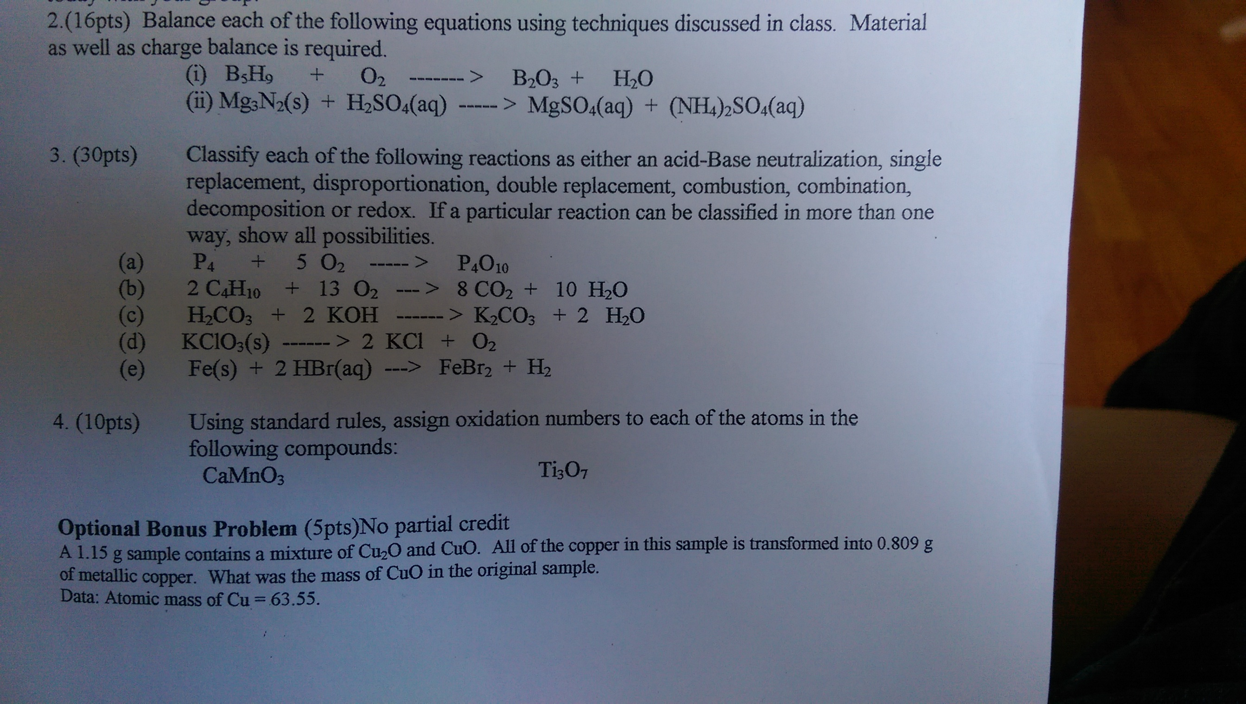 Single and double replacement reactions worksheet key