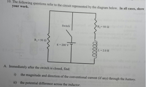The following questions refer to the circuit repre
