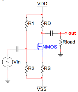 The parameters of the circuit shown in Figure 4 ar