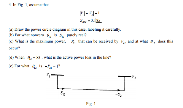 In Fig. 1, Assume That Draw The Power Circle Diagr... | Chegg.com