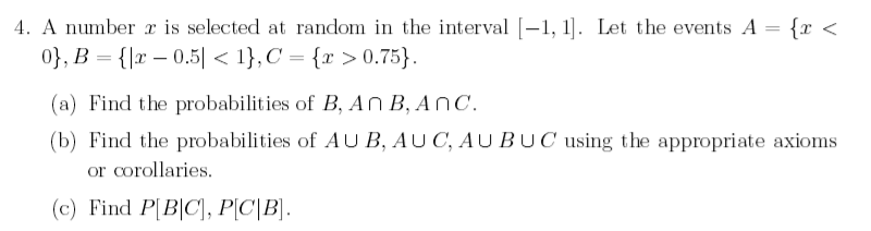 A number x is selected at random in the interval [
