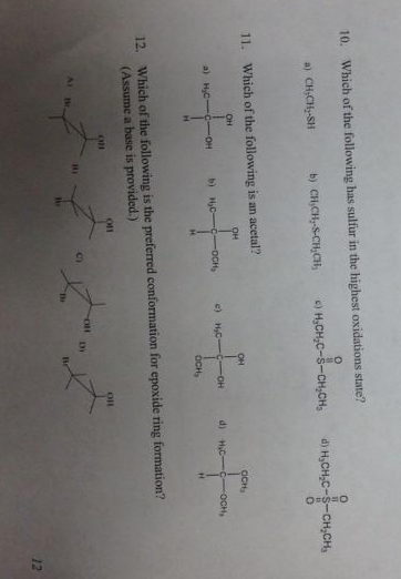 Which of the following has sulfur in the highest o