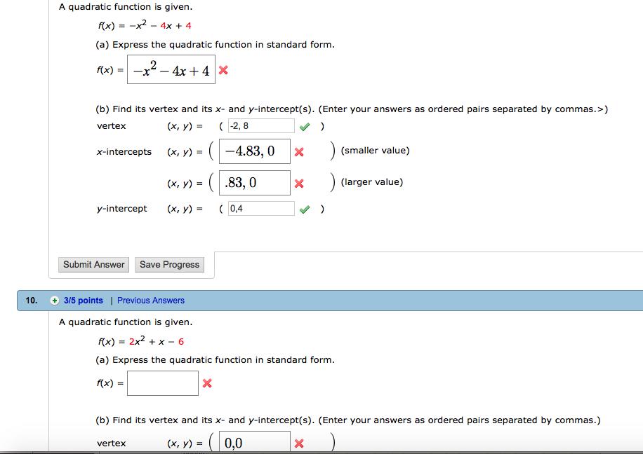 A Quadratic Function Is Given. F(x) = -x^2 - 4x + ... | Chegg.com