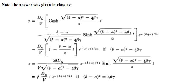 The set of differential equations that represent t