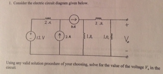 Consider the electric circuit diagram given below,