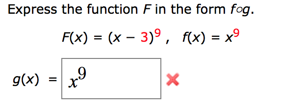 Express The Function F In The Form F O G. F(x) = (... | Chegg.com