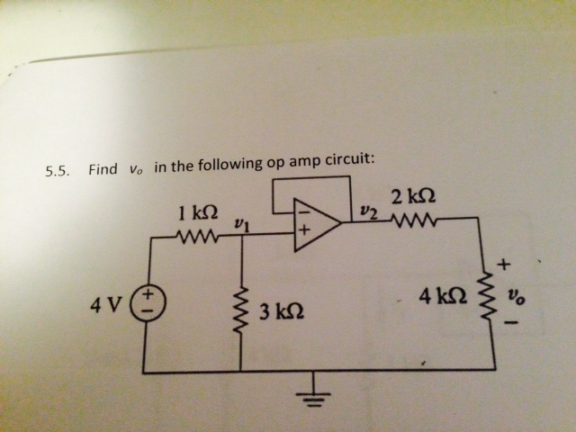 Find vo. in the following op amp circuit Find ix