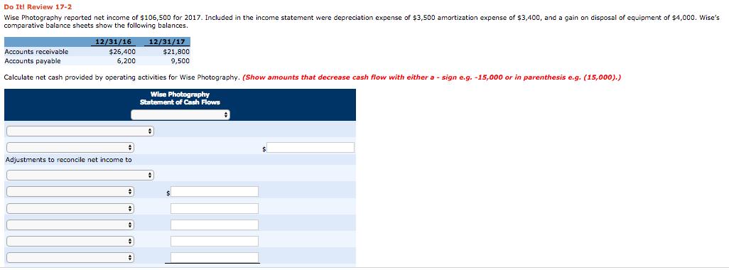 calculator net amortization