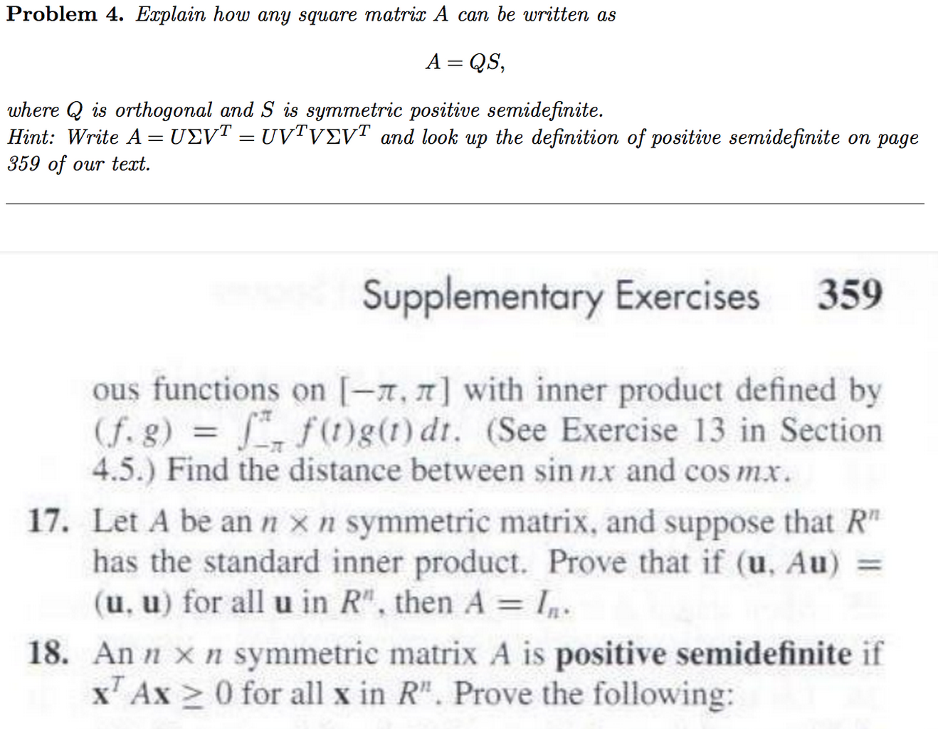 how to show matrix is positive definite
