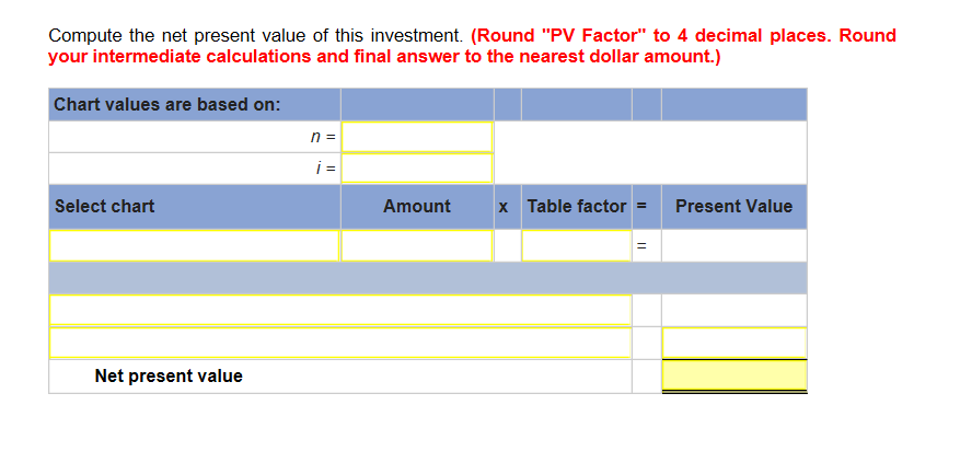 net present value and correct answer Calculation of the internal rate of return (irr) or the net present value (npv)  the npv  answer: the keystrokes presented above indicate the correct entries.