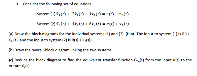 Consider the following set of equations System (1
