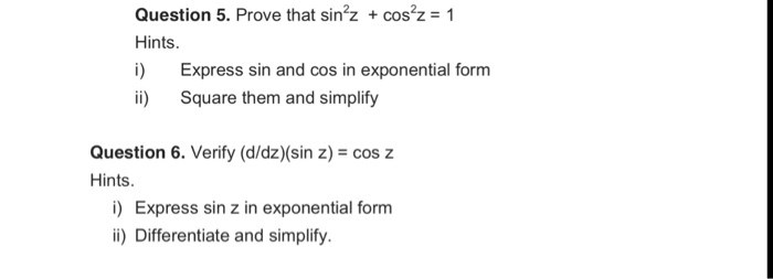 sin in exponential form
