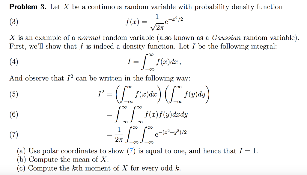 Solved Problem 3 Let X Be A Continuous Random Variable W