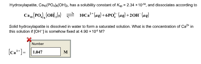 how to get the ksp of a saturated solution