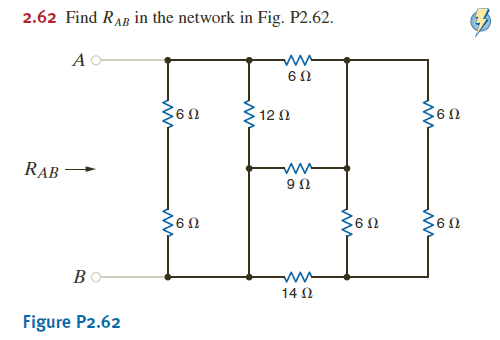 Find RAB in the network in Fig. P2.62.